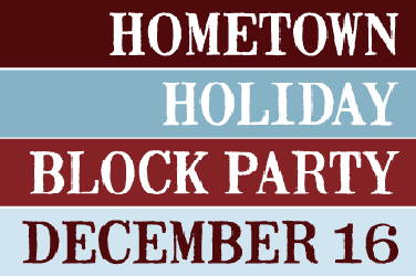 Holiday Block Party Event Poster