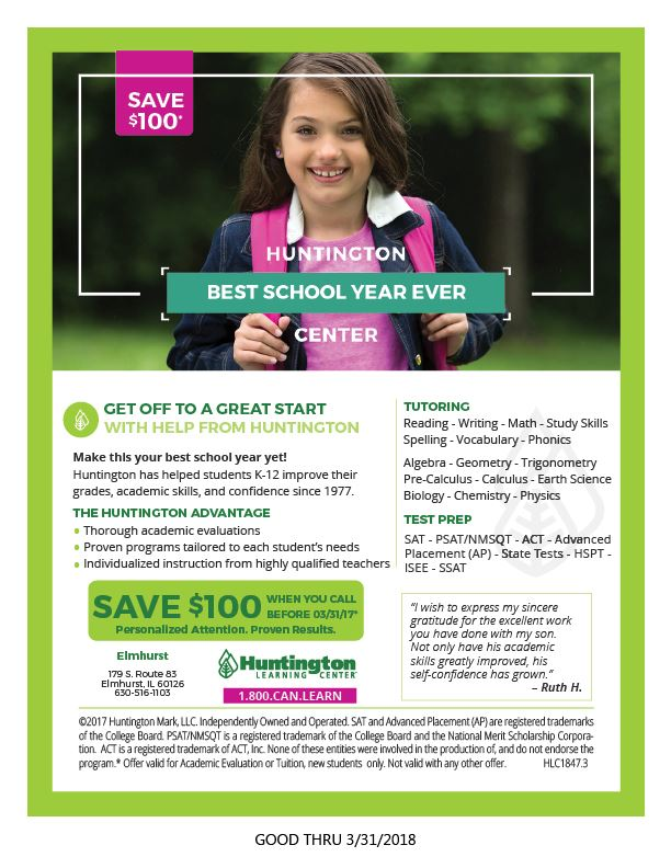 Huntington Learning Coupon